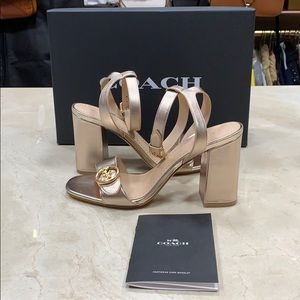 NIB COACH MADDI ROSE GOLD SANDALS